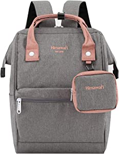 Himawari Travel Laptop Backpack for Men Women, Huge Capacity 15.6'' Computer Notebook Bag for School College Students(Gray)