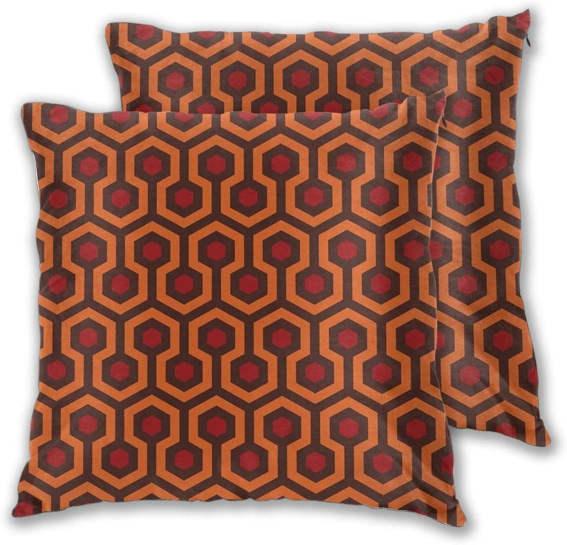 Nonebrand Throw Pillow Covers,The Shining Overlook Hotel Carpet Modern Decorative Pillowcase Double Side Print Cushion Covers for Sofa Couch Bed 18x18 Inches,Set of 2