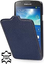 StilGut Étui UltraSlim en cuir pour Samsung Galaxy S4Active i9295en bleu marine