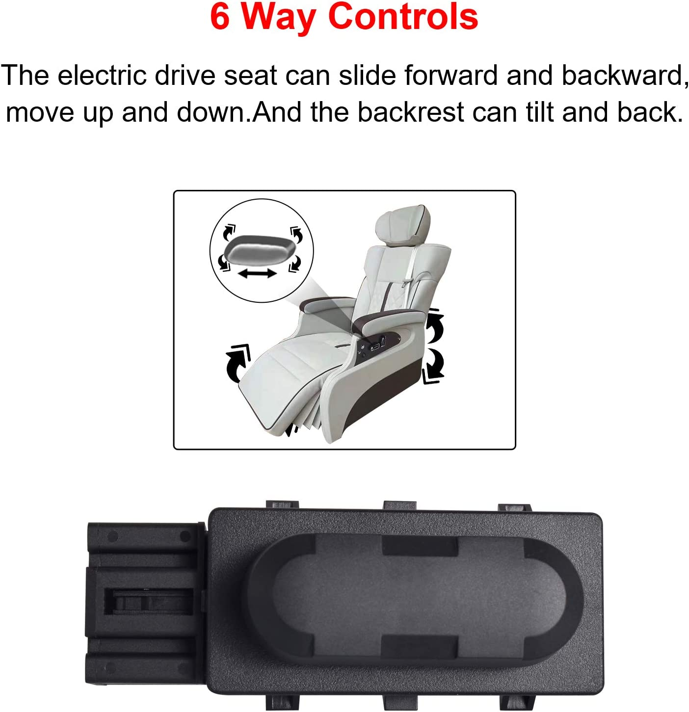 Ferding Power Seat Switch Left Driver Seat Fit for Ford/Lincoln ...