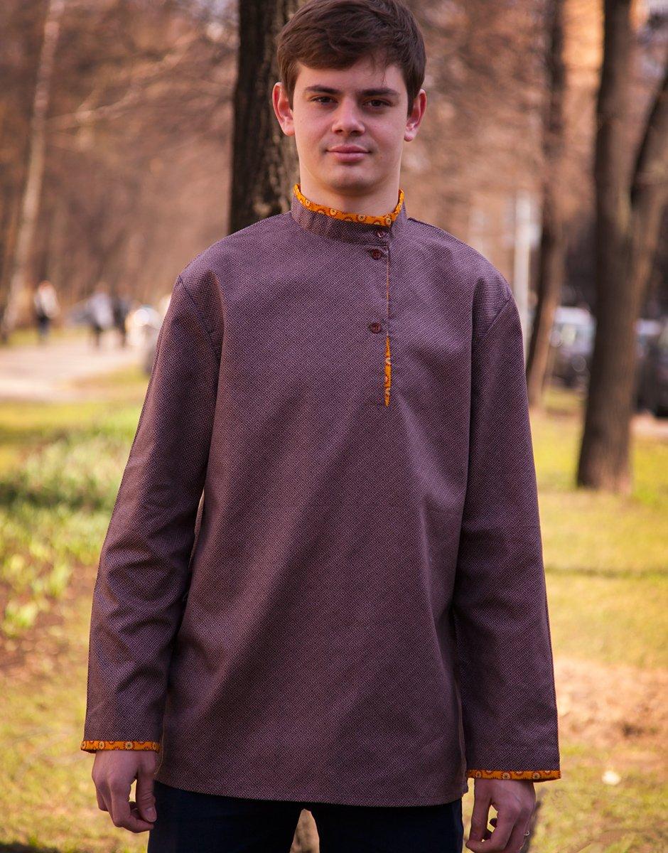 Kosovorotka Russian shirt men traditional wear boho folk shirt hippie clothes