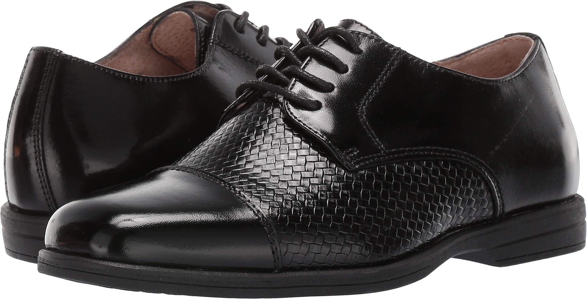 Florsheim Kids Boys' Reveal Cap Toe Oxford II, Black, 1 Medium Little Kid by Florsheim
