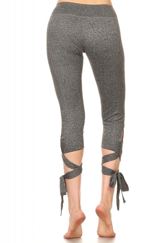 7dec0e767d56ab Woman's Comfortable Cross Tie Cuff Slim Yoga Pants Jogger Workout Capri  Spandex Activewear Legging