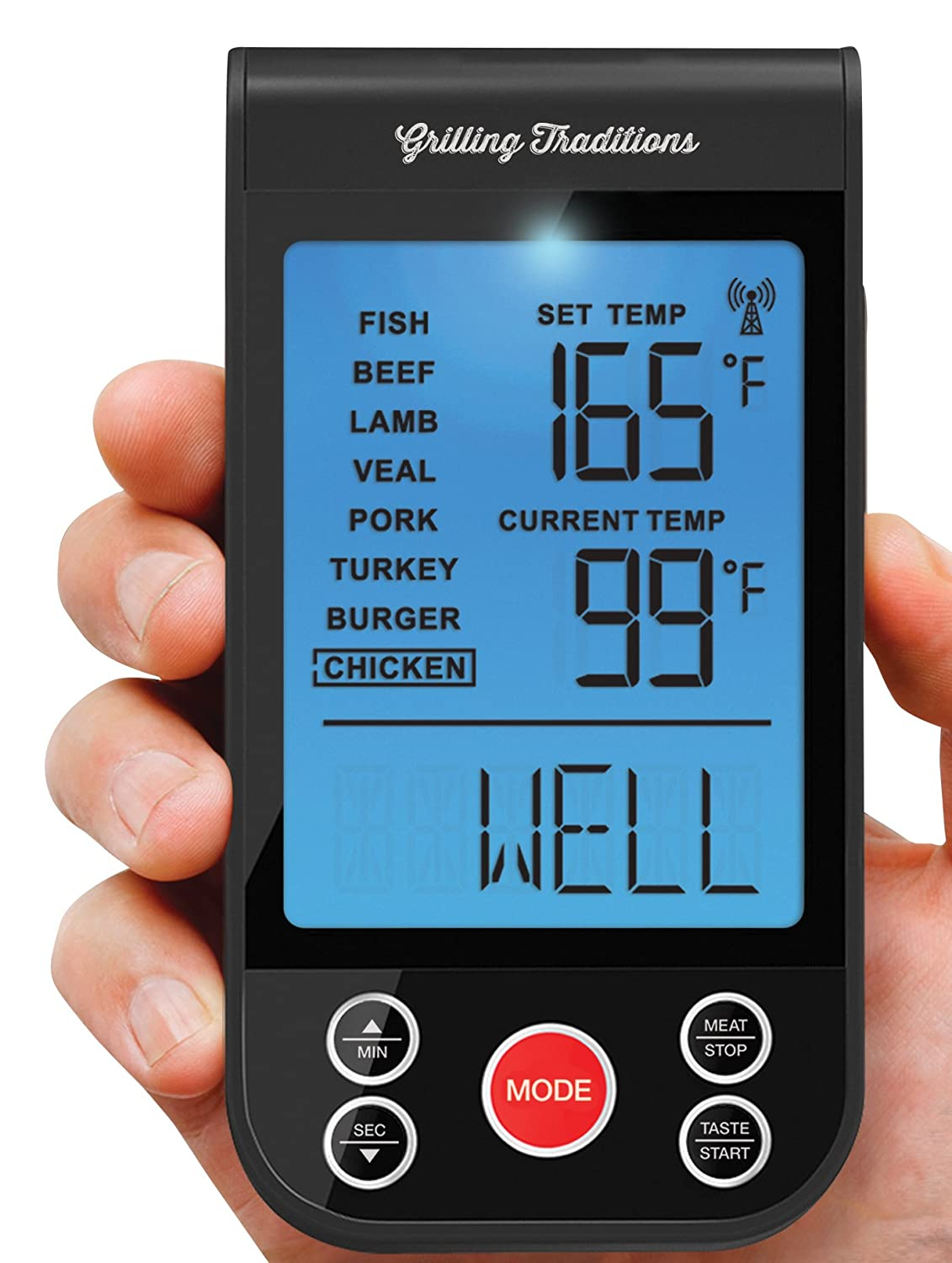 Amazon.com : Grilling Traditions Wireless Grilling Thermometer ...