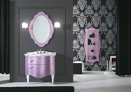 Dafnedesign mobile da bagno con cassetti e specchio ovale e