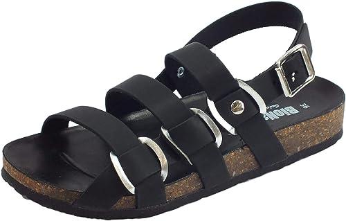 BioNatura Sandalo Zeppa Pelle Gaucho col.Multigiallo 37A2108