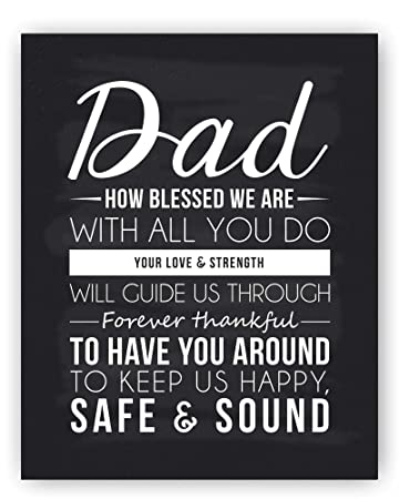 Amazon Com Dad Quote Sign Dad Gift Best Dad Gift Dad
