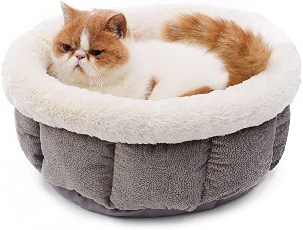 PAWZ Road Pet Round Bed for Cats And Small Dogs 17-Inch Diameter