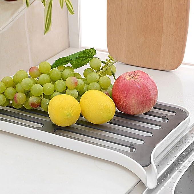 Amazon.com: Estante eDealMax Cocina ahueca hacia fuera la taza del diseño tazón de frutas Escurridor Drenaje almacenamiento a bordo: Kitchen & Dining