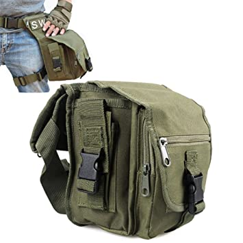 Bolsa para pierna o muslo, impermeable, estilo militar, marca Versipack - Con correas de nailon, ideal para llevar al aire libre, en bicicleta, moto, ...