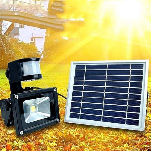 M-zmds Luz solar impermeable para jardín LED PIR Sensor de movimiento Muro Lateral Lámparas de cerca Detector de movimiento al aire libre Luz activada para patio, Terraza, Patio, Jardín, Hogar, Entrad: Amazon.es: