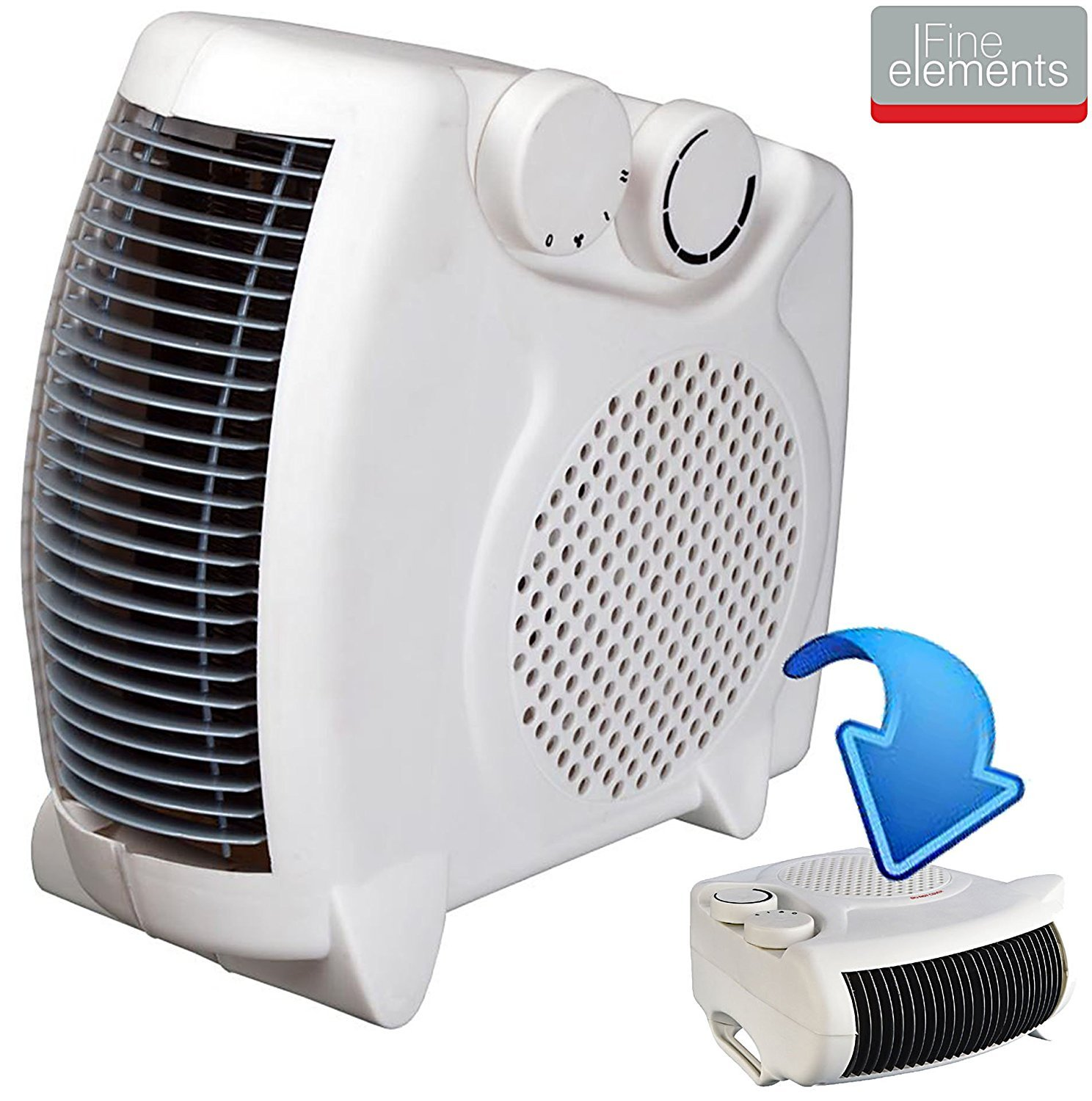 2000W PORTABLE SILENT ELECTRIC FAN HEATER HOT & COOL UPRIGHT BRAND NEW IN BOX Guilty Gadgets 2000W FAN HEATER
