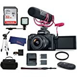 Canon EOS M50 Mirrorless Digital Camera with 15-45mm Lens Video Creator Kit - Black (USA Warranty) Bundle