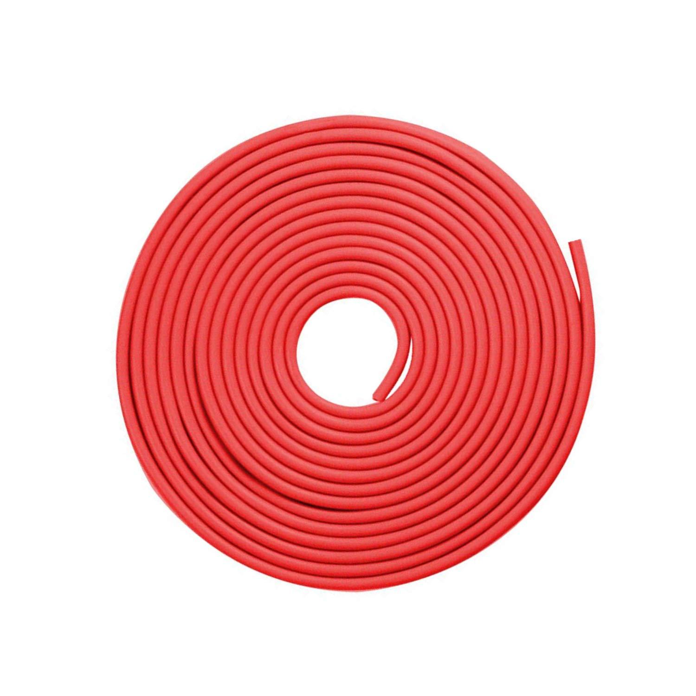 Tuokay 10M Guarnizione Porta Auto Paracolpi Auto Bordo della Striscia Guardia Protezione Striscia Bordo Gomma del Bordo dell' Automobile Bordo della Porta (Rosso)