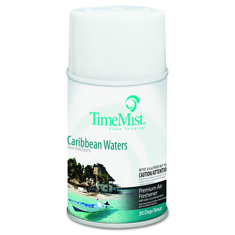 TimeMist 1042756 Metered Fragrance Dispenser Refill, Caribbean Waters, 6.6 oz, Aerosol (Case of 12)