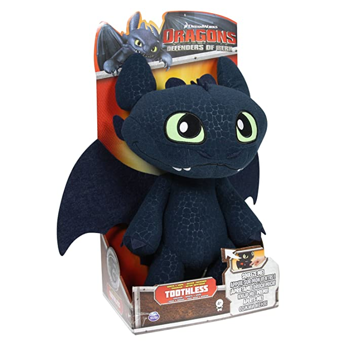 Spin Master 6020113 - Dragón de Peluche, diseño de Desdentado de Cómo Entrenar a tu dragón de DreamWorks: Amazon.es: Juguetes y juegos