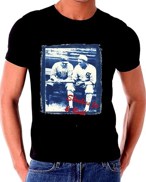 Gatsbe Exchange Babe Ruth And Shoeless Joe Jackson Baseball T Shirt