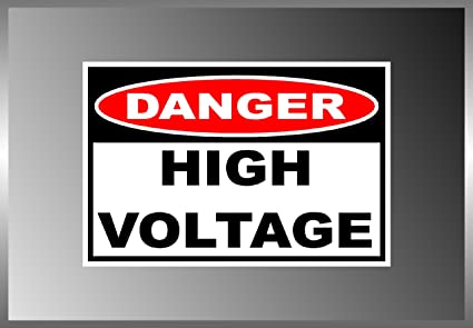 High Voltage Danger Warning sign Car Bumper Vinyl Sticker Window Car Bumper #050