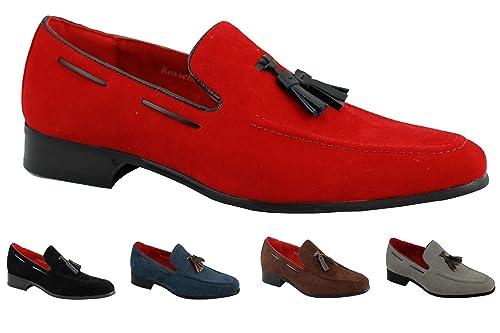 Rossellini - Mocasines de verano en piel de ante con borla para hombres: Amazon.es: Zapatos y complementos