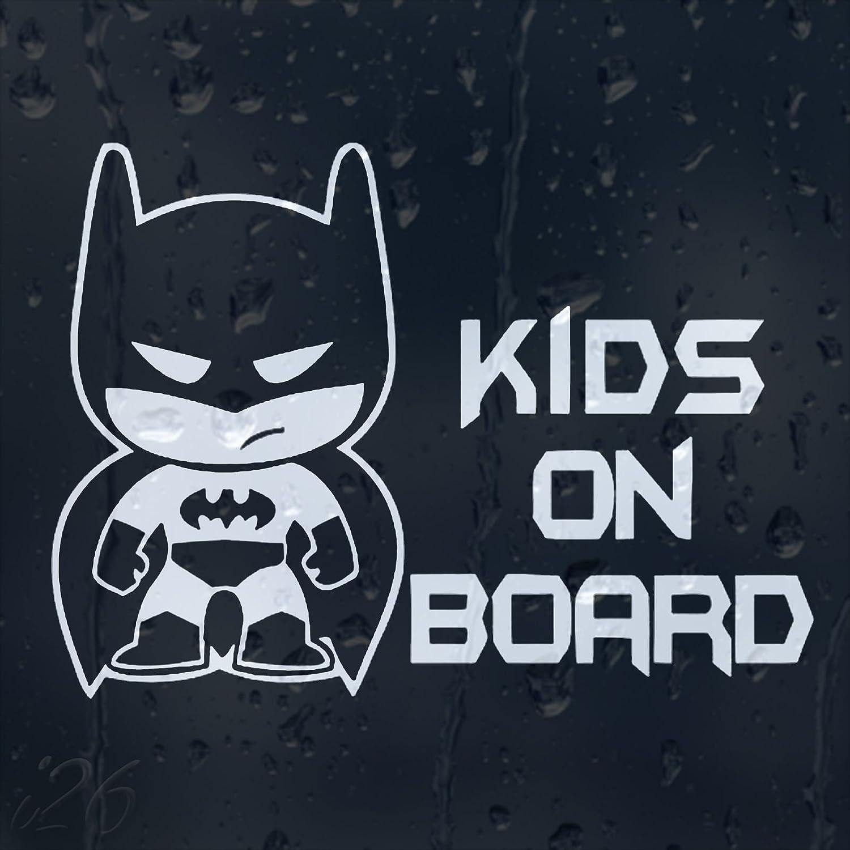 Bonus Testaufkleber Estrellina-Gl/ückstern /® waschanlagenfest, gedruckte Montageanleitung von myrockshirt Kids-On-Board-Little-Batman`