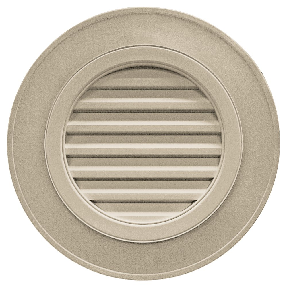 Builders Edge 120032828085 28'' Round Vent Designer without Keystones 085, Clay