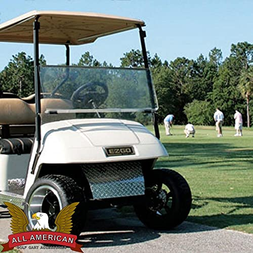 CLEAR Folding Windshield for EZGO Marathon Golf Cart