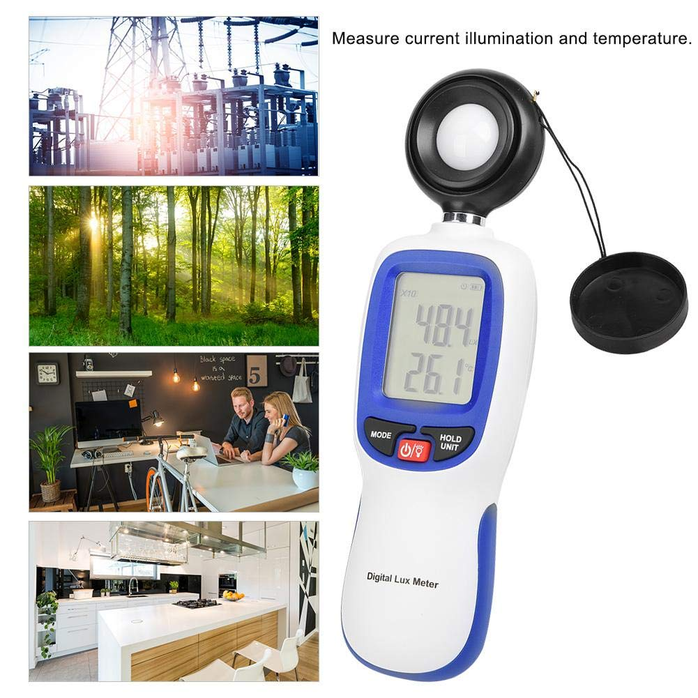 WT81B Digital Illuminance Light Meter,Measure Lights 0-200,000 Lux Tester Illuminometer for Plants LED Lights Indoor Outdoor Light Tester