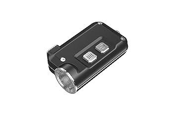 HANDIPRO Linterna Azul de luz LED Recargable por USB, Llavero, Super Pequeño NITECORE TINI 380 LM