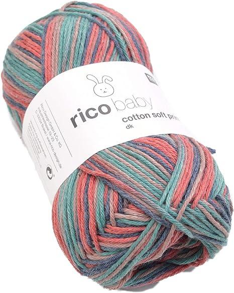 Baby lana Rico Baby Cotton Soft Print dk Color 23, de mezcla de algodón hilo para tejer &: Amazon.es: Hogar