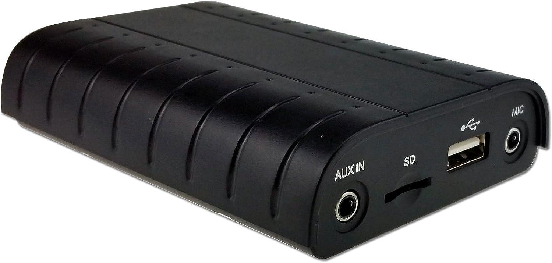 DJC Bluetooth A2DP Manos Libres USB SD AUX Adaptador de Coche Kit para Audi, A4, A5, A6, Q7, MMI2G Alto/Básico