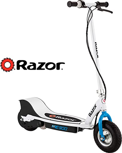 Razor E300 Electric Scooter White Blue Sports Outdoors
