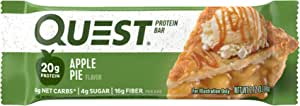 Quest Nutrition Apple Pie Protein Bar, High Protein, Low Carb, Gluten Free, Soy Free, Keto Friendly, 12 Count