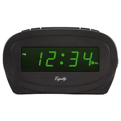 Equity by La Crosse 30226 Digital Green LED Electric Alarm Clock