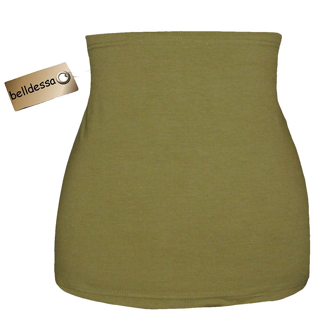 Belldessa Jersey Baumwolle - oliv grun - Nierenwärmer / Rückenwärmer / Bauchwärmer / Shi..
