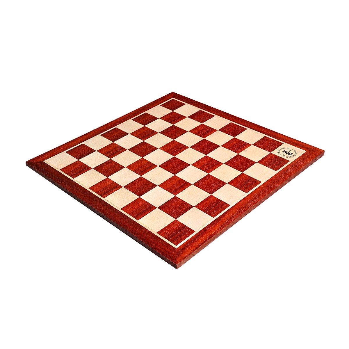 低価格の Padauk Maple & Maple Wooden The Chess Wooden Board - 2.25