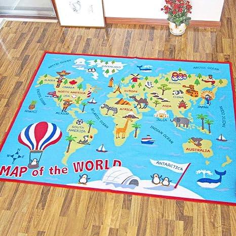 Amazon hebe kids rug world map educational childrens play rug hebe kids rug world map educational childrens play rug learning carpet for playroom bedroom non skid gumiabroncs Images