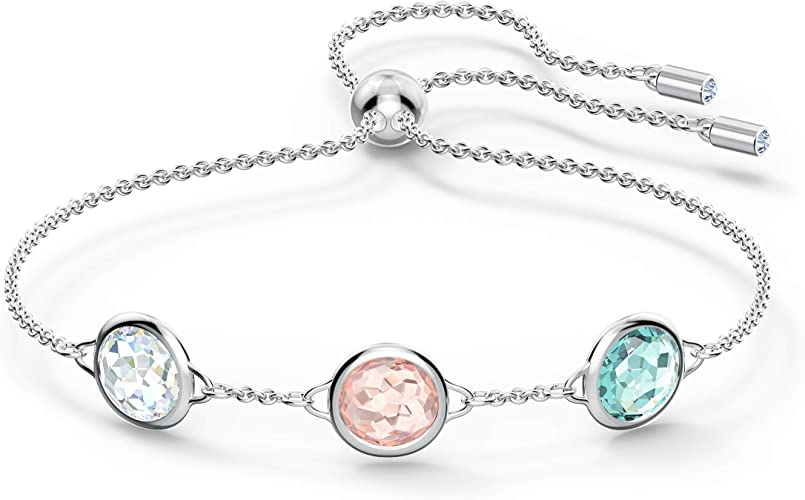 Amazon.com: Swarovski Tahlia Bangle Bracelet with Round Clear ...