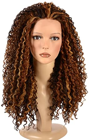 Hair by misstresses long spiral afro curl wig with copper hair by misstresses long spiral afro curl wig with copper highlights lace front queen b pmusecretfo Choice Image