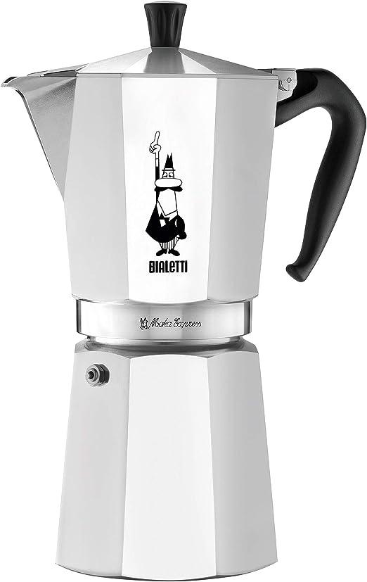 Bialetti 06853 moka Stovetop coffee maker, 12-Cup, Aluminum