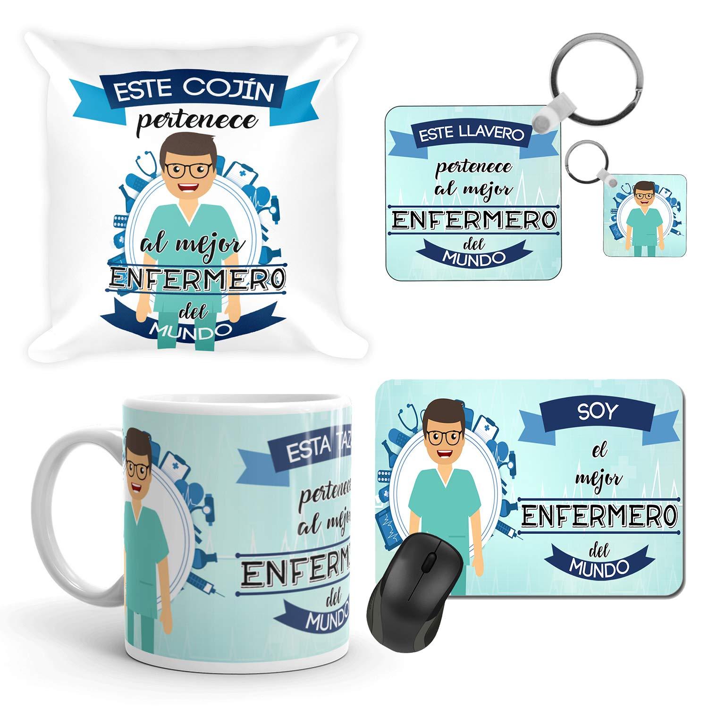 Kembilove Taza de Café del Mejor Enfermero del Mundo – Taza de Desayuno para la Oficina – Taza de Café y Té para Profesionales – Taza de Cerámica ...
