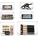 MDHAND Desk Drawer Organizer Trays, Bathroom Drawer Organizer Tray Dividers Plastic Vanity Organizers Storage for Dresser Mak