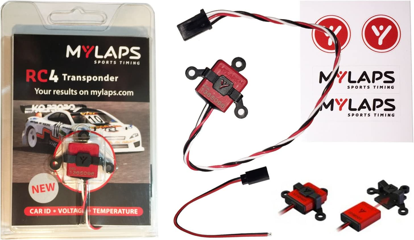 MyLaps RC4 3-wire Transponder for R C Cars AMBrc, AMB rc – NEW