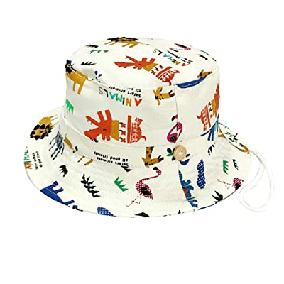 Alina Toddler Baby Dinosaur Hat Sun Protection Animal Bucket with Chin Strap