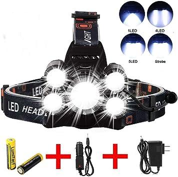 350000LM Tactical Zoom T6 LED18650 Flashlight Torch Headlamp Headlight Fishing