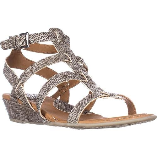 47d8ca3bbf B.O.C. by Born Concept Womens HEIDI Low Wedge Gladiator Sandals: Amazon.ca:  Shoes & Handbags