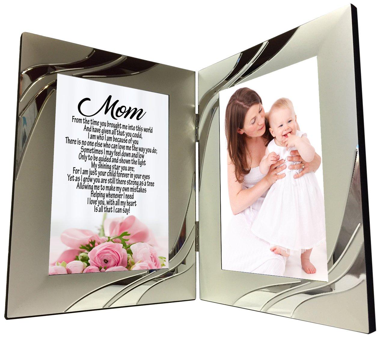 MOM Geschenk, Sweet Sentimental Mutter Gedicht 4 x 6 silber ...