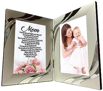 Mom Geschenk Sweet Sentimental Mutter Gedicht 4 X 6 Silber