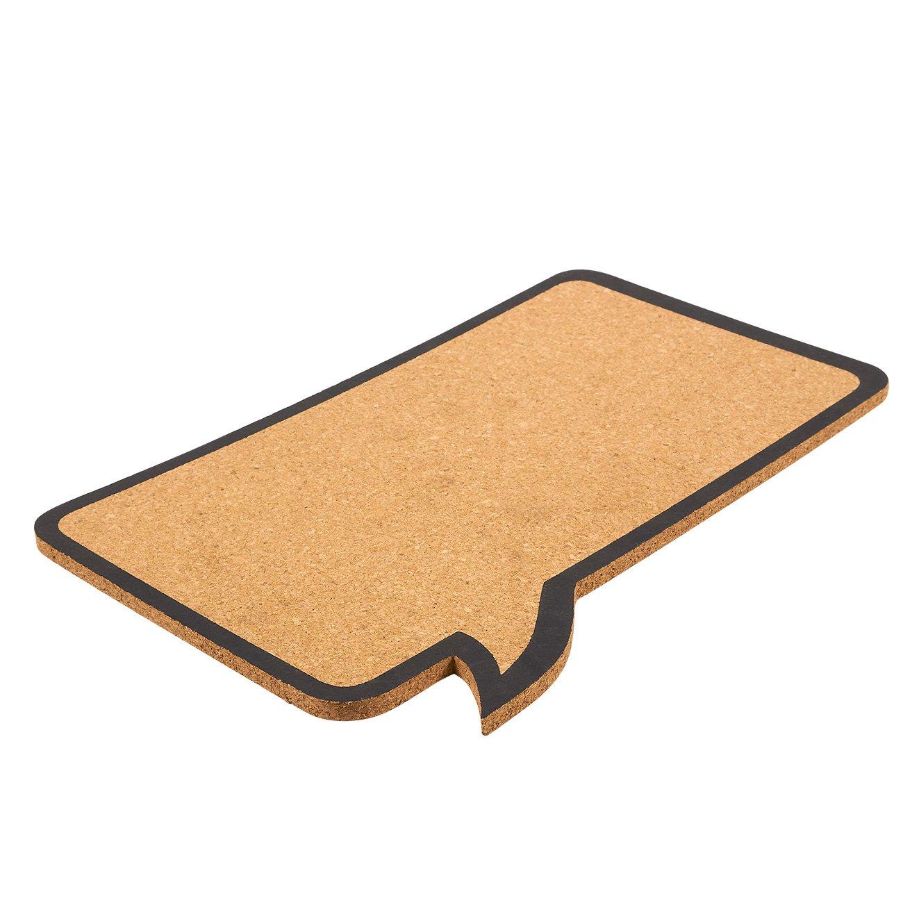 44,5/x 29,2/x 0,8/cm /decorativo fumetto memo board/ /perfetto per spinatura e promemoria Cork bacheca in sughero naturale/ /include 6/perni/