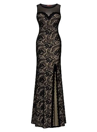 Amazon Miusol Womens Sleeveless Long Black Lace Split Side