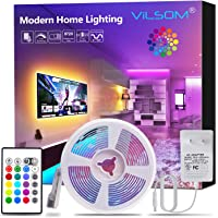 ViLSOM Led Strip Lights, 16.4ft Light Strip Kit with Remote and SMD 5050 RGB Color Changing Led Lights for Bedroom, Room, TV, Kitchen and Home Decor Bias Lighting